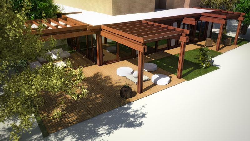 Render giardino rendering architettonici a roma for Rendering giardino