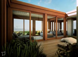 rendering3-attico giardino legno