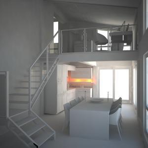 veranda su due livelli interno1-mono